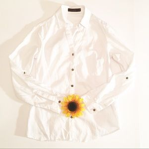 White The Limited button up long sleeve small